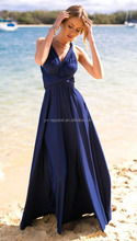 Women long maxi bridesmaid multiway dress