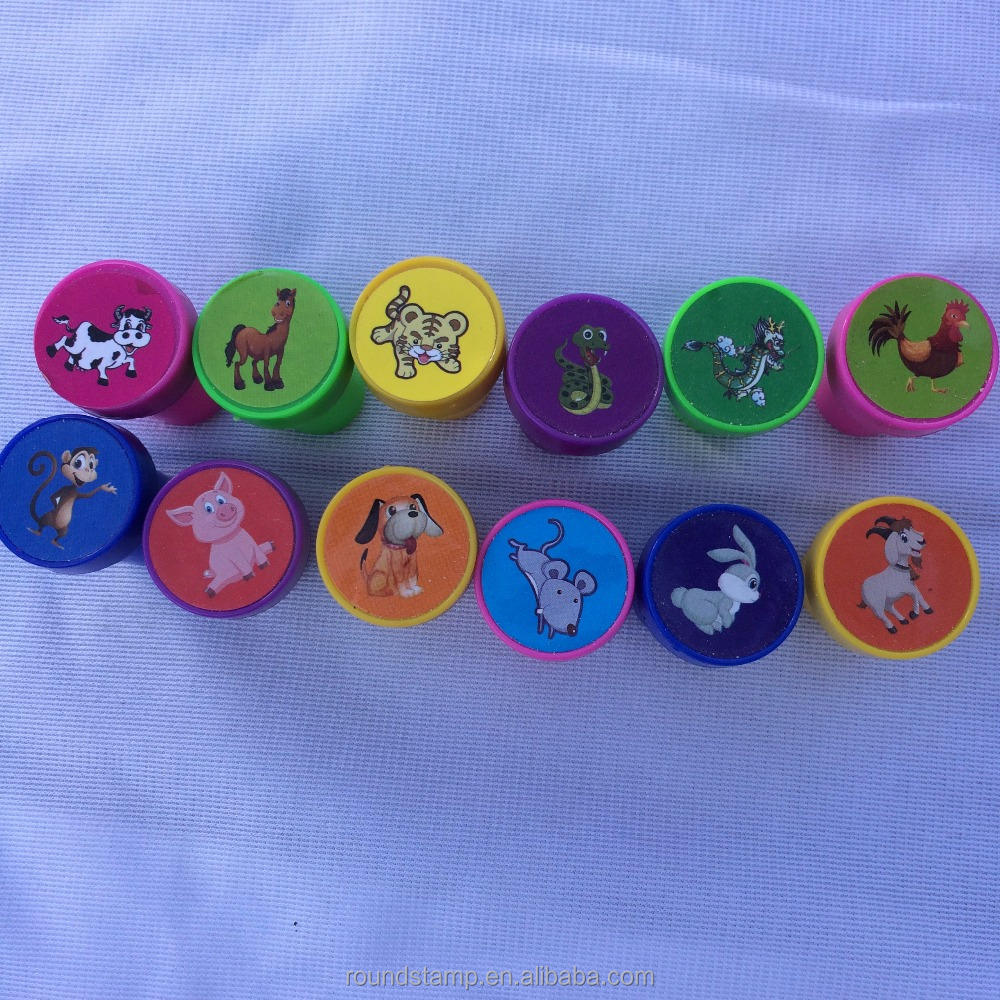 12 zodiac shiny stamp, toy stamp