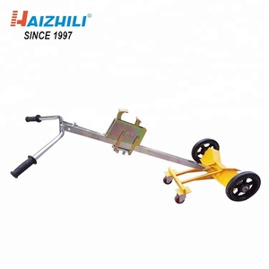 Portable oil drum trolley, Hand carrier two wheel oil trolley load capacity 420kg