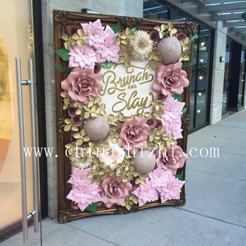 Decorative Giant Paper Flower Wall Party Decoration Wedding Decoration Buy Flower Wall Paper Flower Wall Artificial Flowers Wall Product On