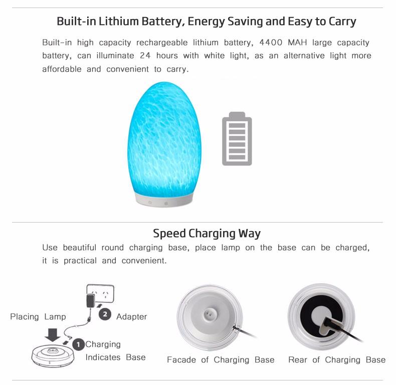 Tops-lighting Touch Sensor Slit Marble Table Lamp