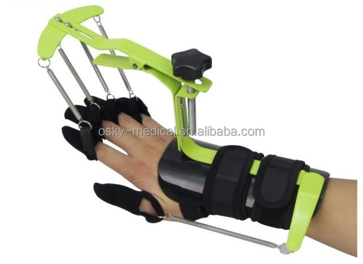 dynamic orthosis for finger and wrist / beginner piano or worker in office finger exerciser