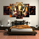 Hanging Indian God Ganesh Canvas Paintings Wall Art Decorations
