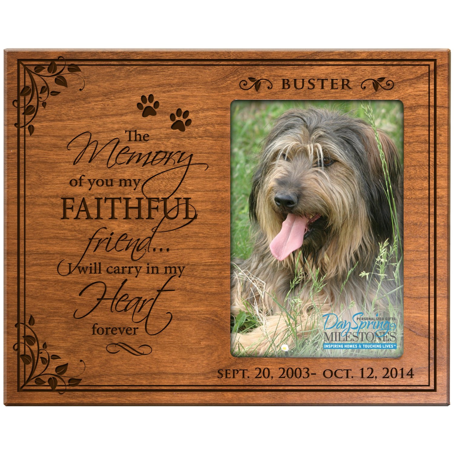 Buy Personalized Pet Memorial Gift, Sympathy Photo Frame, The Memory ...
