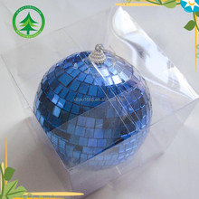 xibao brand 10cm blue christmas glass ball , christmas tree ornaments