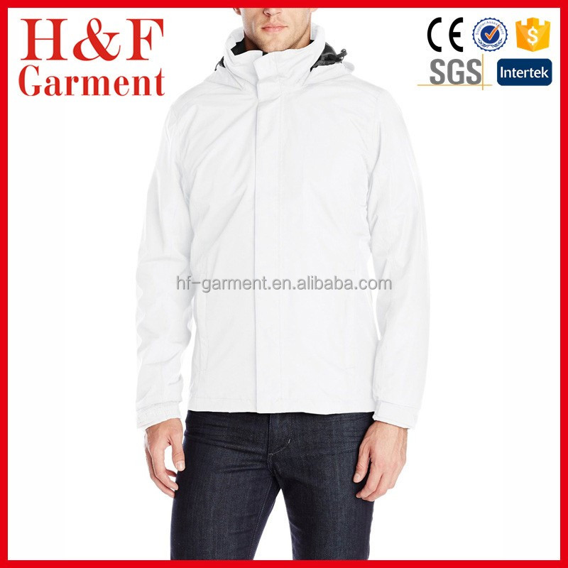 Fashion waterproof Men's rain coat with Fully seam sealed