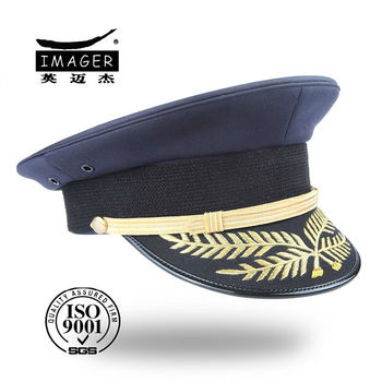 HIGH-QUALITY military peakcap with gold leaf embroidery