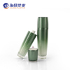 Newest design personal care airless pump green double walled vacuum cosmetic bottle face cream