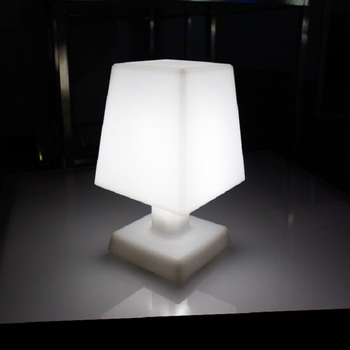 antique table lamp with battery operated, square plastic table light