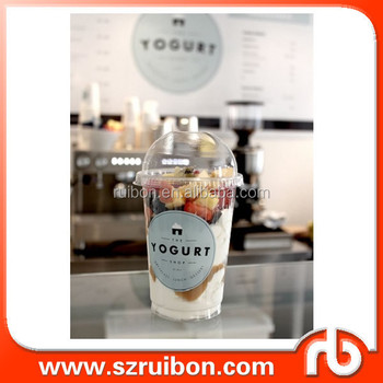 Printed custom waterproof sticker for drinking cup yogurt cup ice cream cup