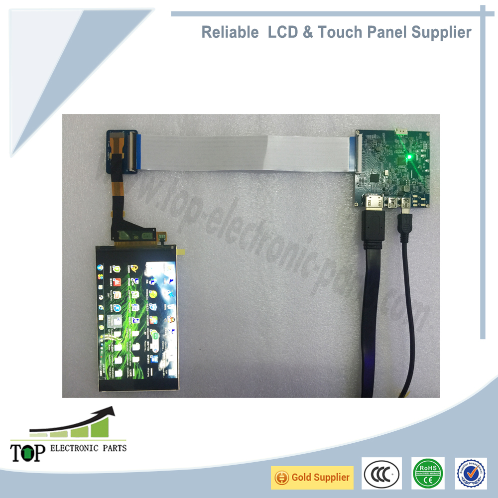 5.5 inch 1440P lcd display , 2560x1440 TFT LCD Panels , 2K lcd with HDMI board