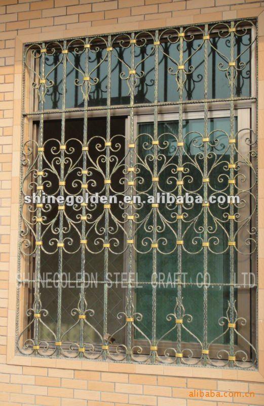 2016 China Best Price Iron Window Grill Design