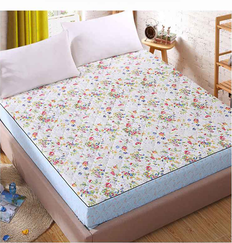Cool Patterned TPU Laminated Waterproof WAterbed Mattress Pad