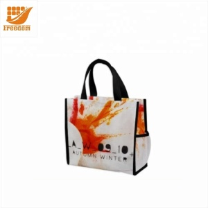 Custom Printing PP Laminated Woven Bag Promotional Reusable and Foldable Tote Non Woven Shopping Bag