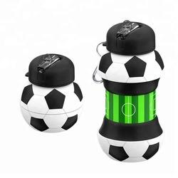 Популярные Дети Спорт Футбол напиток складная бутылка для воды BPA бесплатно