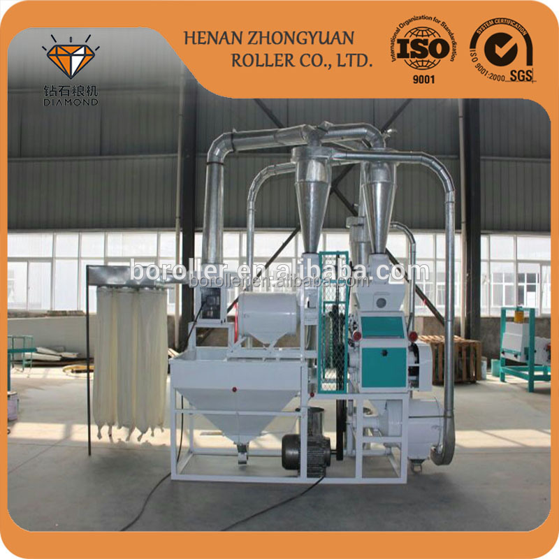 tin bread flour 50t flour mill three roller milling machine with price