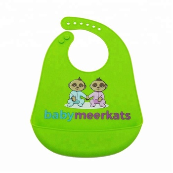 Customer Logo Cute Cartoon Printed silicone fancy baby bibs