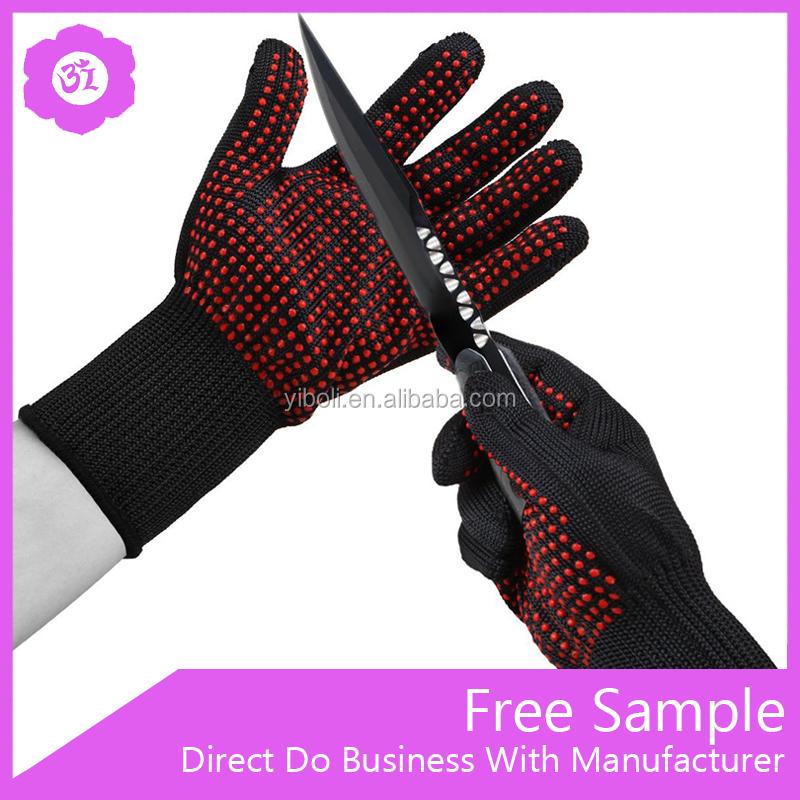 En407 100% Cotton Lining Aramid Fiber Bbq Grilling Cooking Gloves ...