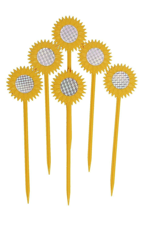 foci cozi Garden Sunflower Stakes Bird Repellent Stakes Garden Decor 8pcs