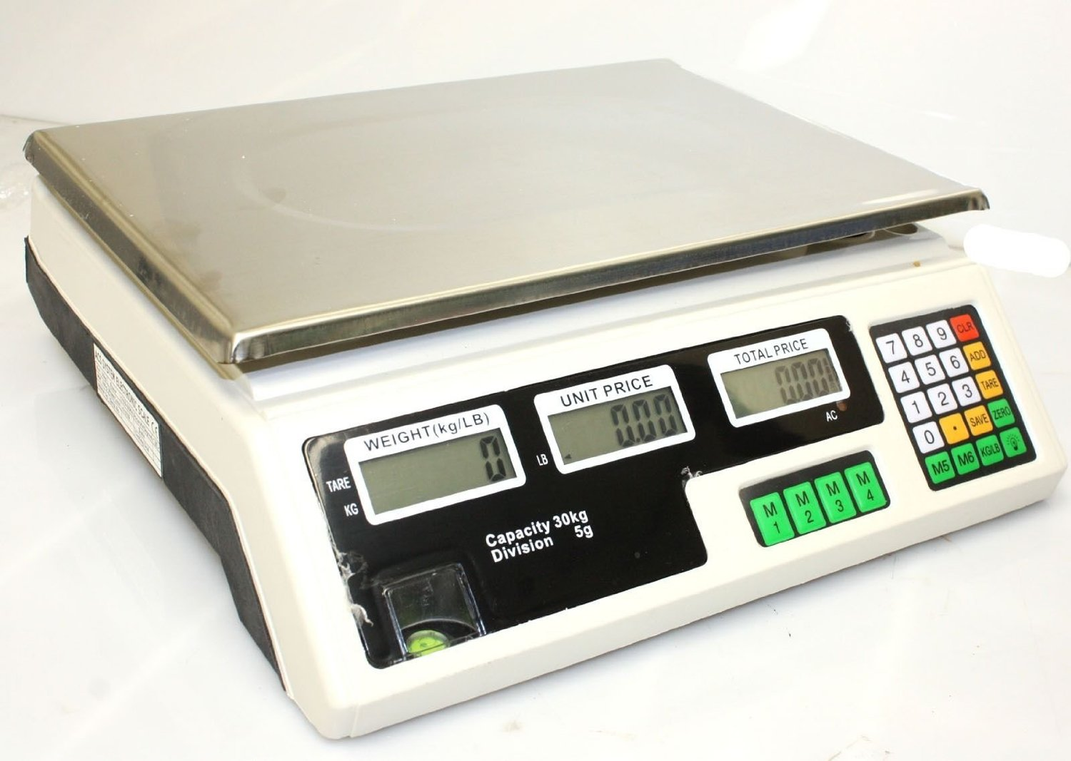 66 LB 30KG//1g Digital Weight Scale Price Computing Food Meat Produce Deli Market