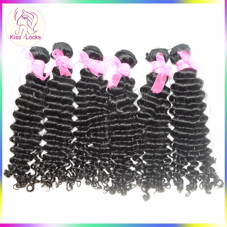 Promotion Price Charming Curl Malaysian Deep Wave Virgin Wavy Hair Natural Color Human Hair Extension Fast Shipping