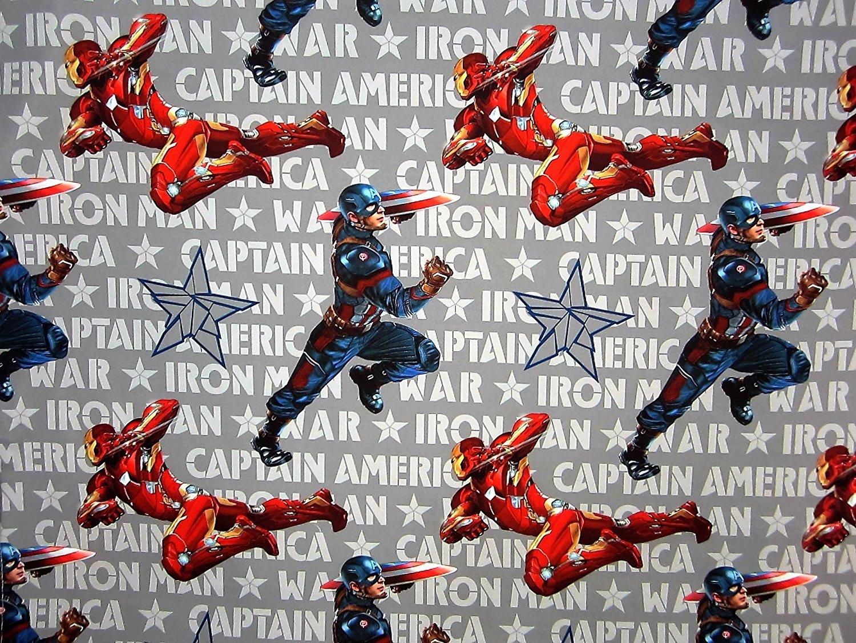 Avengers Captain America Civil War (FLAT SHEET ONLY) Size TWIN Boys Girls Kids Bedding