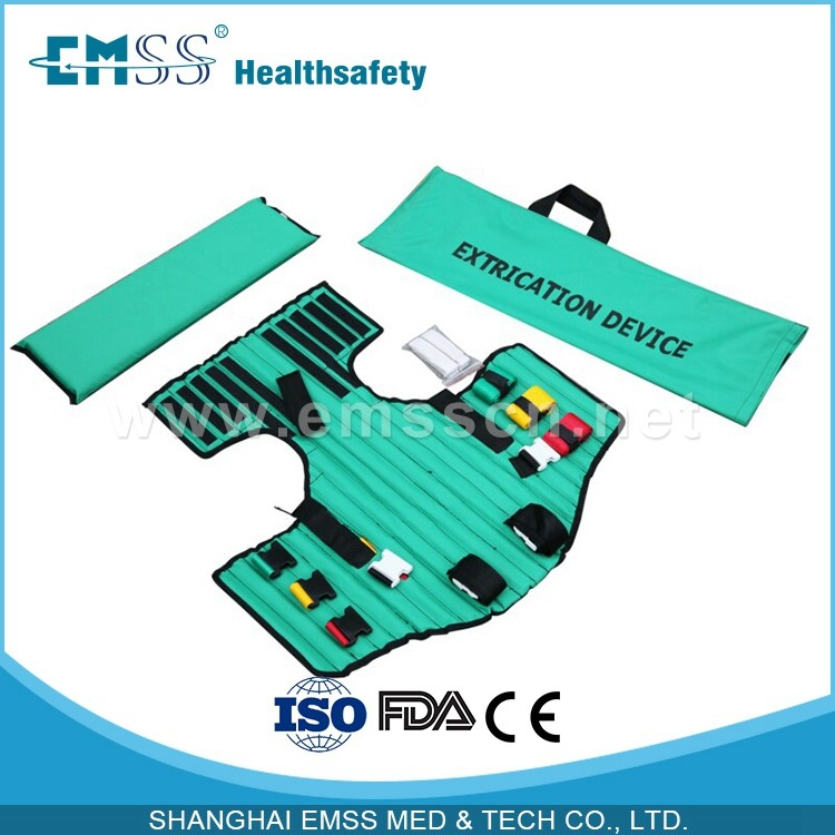Extrication body splint for hospital from EMSS