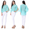 Ladies casual tops long sleeve autumn clothing for ladies fashion chiffon shirt sexy office lady blouse