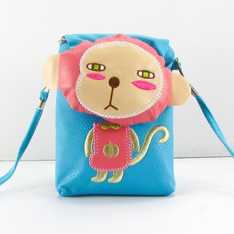 0d4298c3a0 Get Quotations · cute leather shoulder monkey bag for girls fashion animal  women mini messenger bag coin purse phone