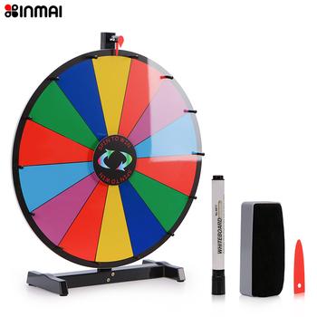 18 Inch Round Tabletop Color Prize Wheel 14 Clicker Slots Editable