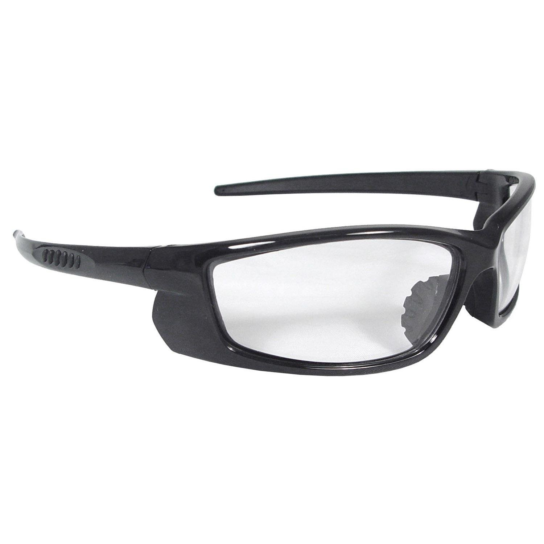 06e56463f Get Quotations · Radians VT1-10 Black Frame Voltage Safety Glasses Clear  Lens Rubber Nosepiece
