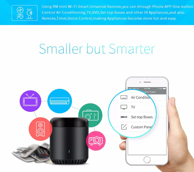 Broadlink RM MINI 3 IR Hub Google home home assistant Smart