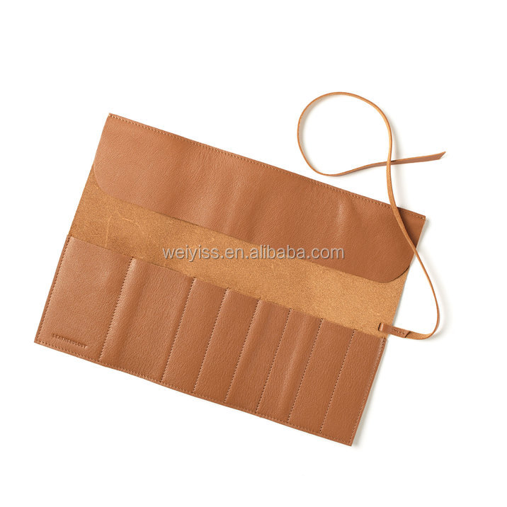 Newly makeup brush pouch High quality Leather holder