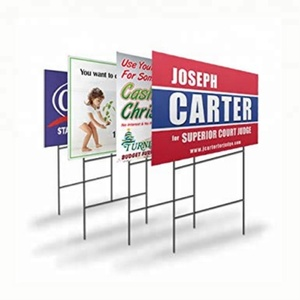 Recycle Corrugated Vinyl Yard Signs Custom Advertising Sign PP Corrugated Sheet