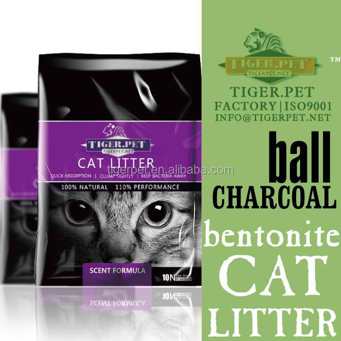 best clean ball shape activated charcoal bentonite cat sand dust-free