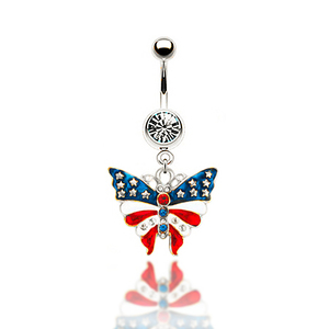 8d41a068c58 Fashion Butterfly Shape Dangle Belly Ring Body piercing jewelry photo