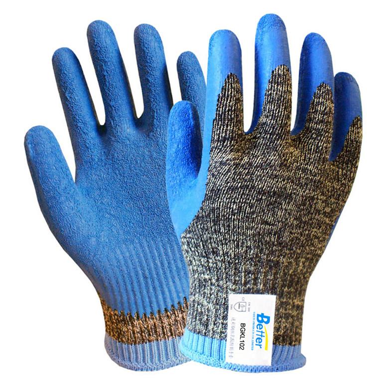 10 Guage Камуфляж HPPE РАБОЧИЕ Перчатки С Покрытием Из Латекса Перчатки Устойчива К Порезам Арамидных Волокон - Рабочие перчатки для ремонта