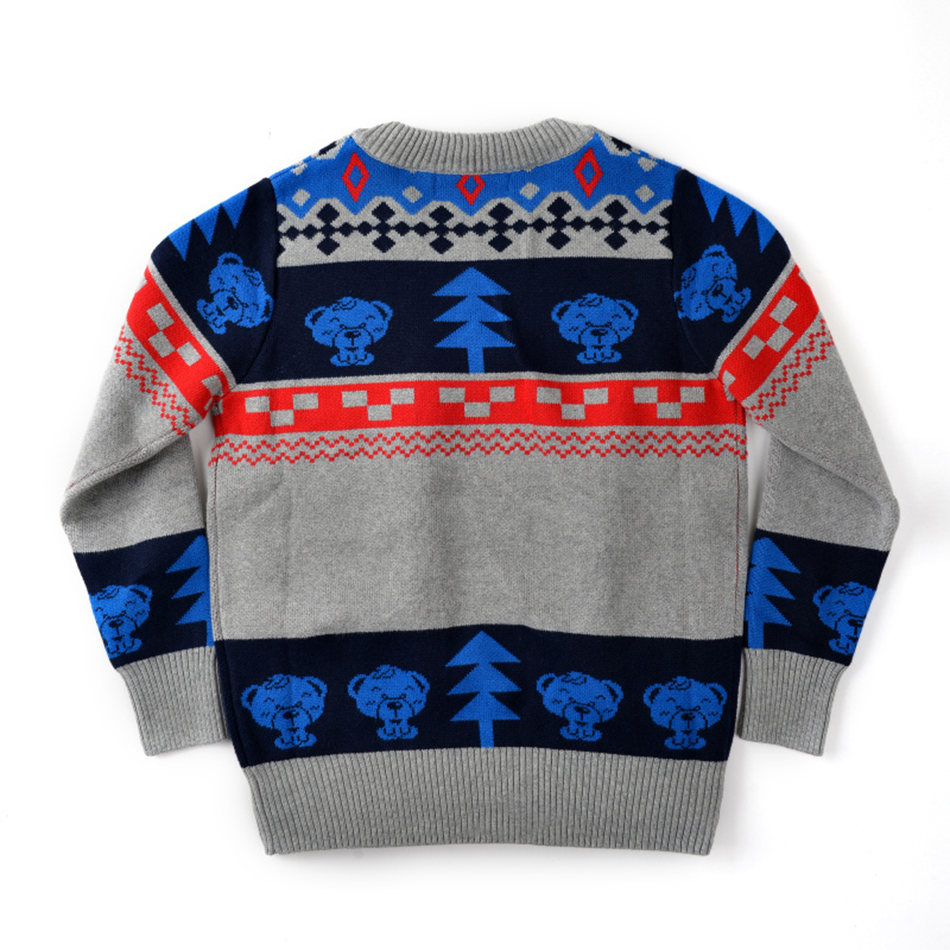 OEM Service Fashion Children Wear Warm Knitted Design Kids Sweater For Winter
