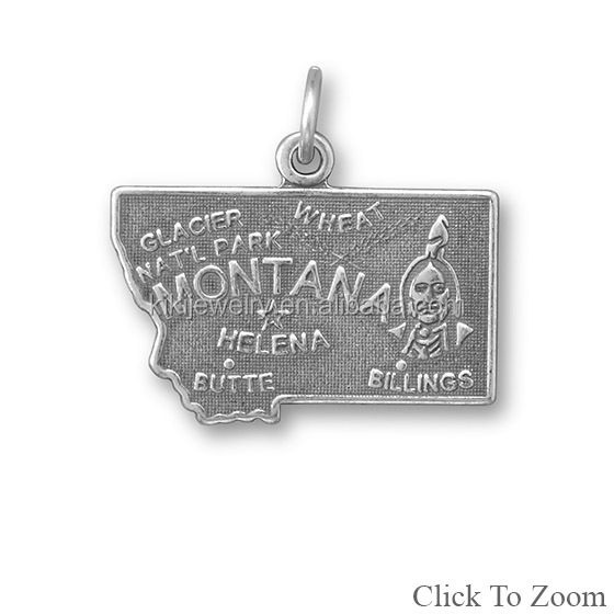 Lead Free Metal Alloy Simple Montana Us State Charms For American