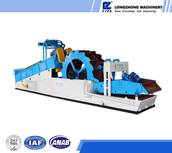 Sand washing plant with washing, screening, dewatering and recycling functions