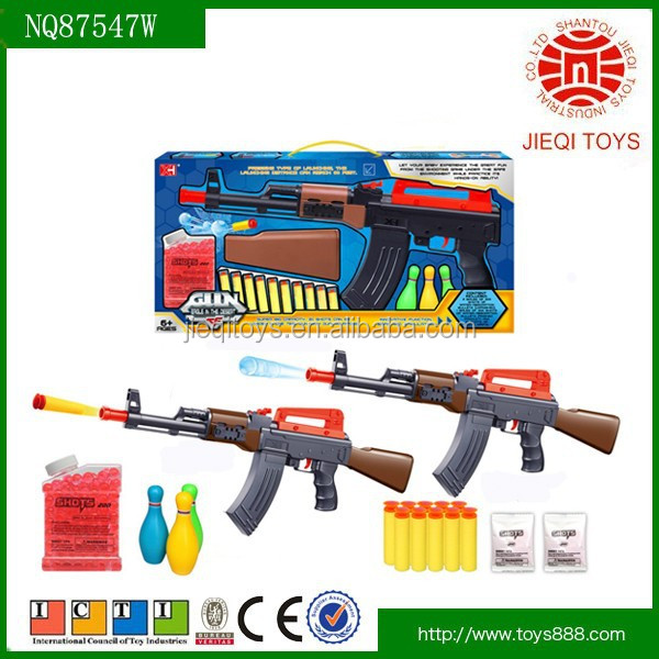 Most popular products 2 in1 AK47 gun toy with Water bombs and soft bullets for kids