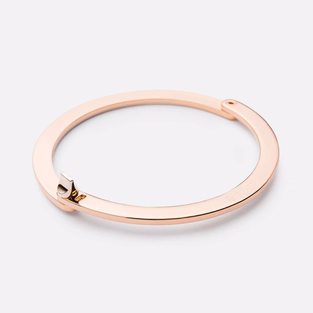 Hot Sale Fashion Stainless Steel WASHER CUFF, ROSE GOLD-PLATED Mens Bangle Bracelet S3-0162
