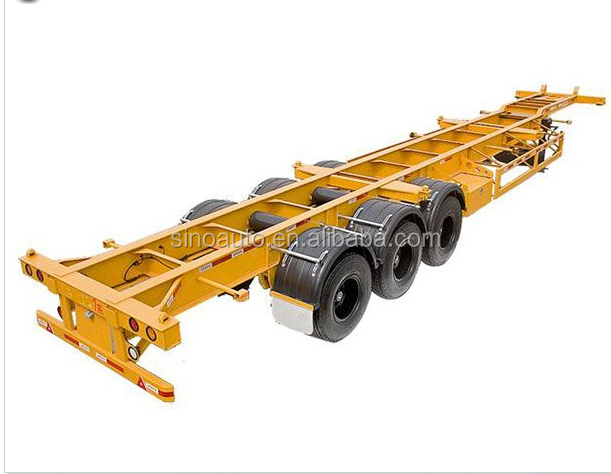 skeletal semi trailer 40ft container bomb cart trailer port terminal trailer