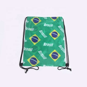 hot selling good quality custom polyester reusable draw string pouch shoe bag