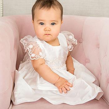 8f2a8402 De moda lindo, bebé flor vestido de bautizo bautismo recién nacido Ropa  niños niñas cumpleaños