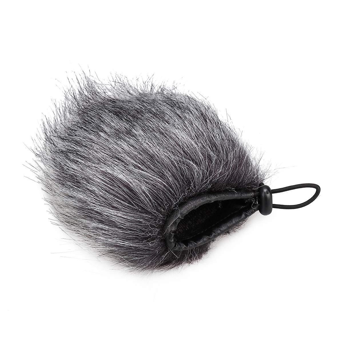 Wei Xi Furry Microphone Windscreen Muff - 17 X 4.5cm Furry Mic Cover Outdoor Microphone Wind Shield for Camera Recorder Rode Shotgun Microphones