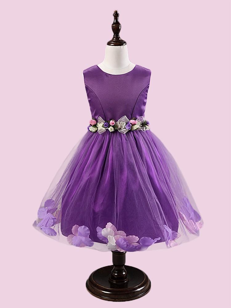 Venta al por mayor vestido de petalos de flores-Compre online los ...