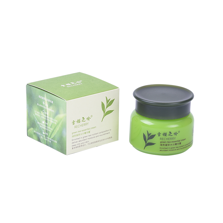 Beauty personal care skin green tea extract face cream set nourish face cream