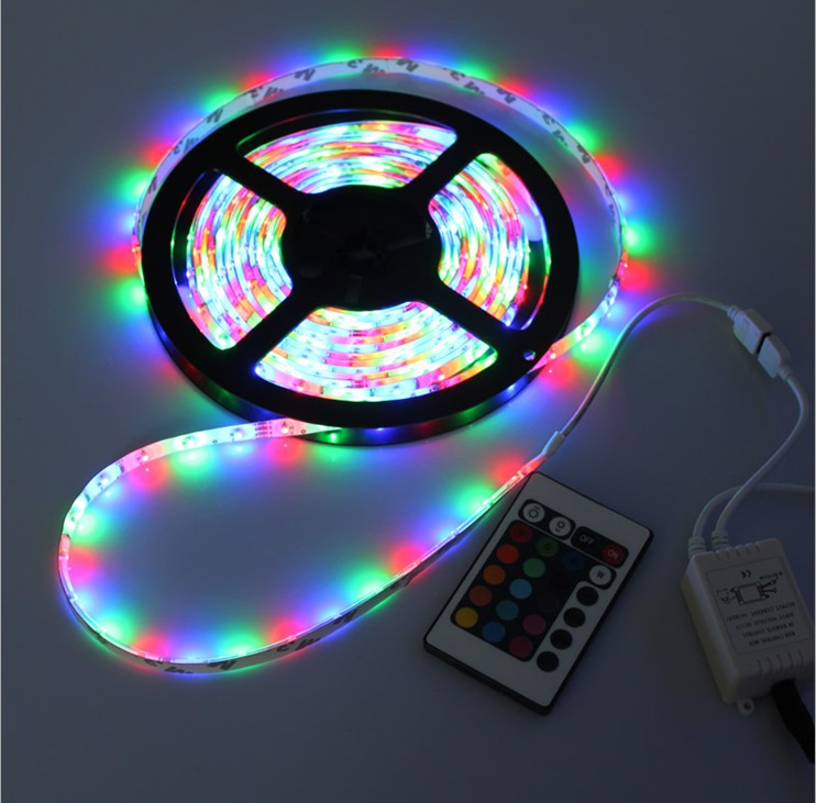 5meters/ Roll DC12V 60led/m Magic 3528 <strong>RGB</strong> 300led Led strip light