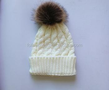 554d8968693 kids Imation fur hats Knitting wool Winter child hats caps ball Fashion  hedging cap Beanies Children